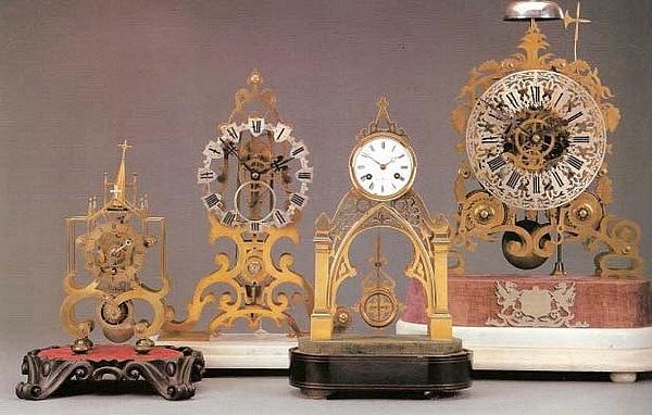 Подборка часов-скелетонов XIX в. Готика