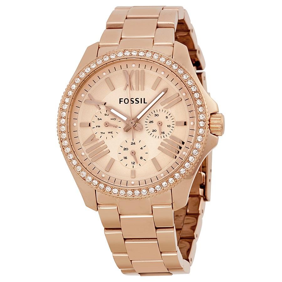 Компания fossil делает ставку на оригинальный эффектный дизайн и функциональность часов.