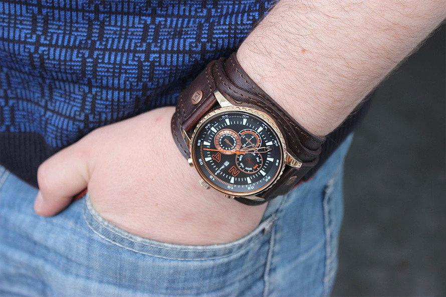 Кожаный браслет для часов своими руками 81